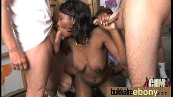 Ebony Gang bang and CUM FEEDING 30