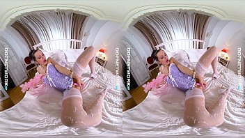 DDFNetwork VR - Sasha Rose Cosplay Masturbation in VR
