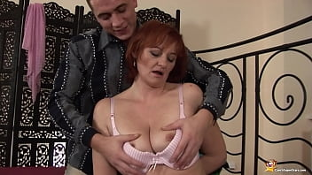 ugly mom rough and deep fisted by her toyboy