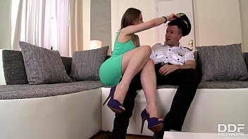 Tina Kay Gives Her Pilot Husband What He Needs Until He Cums All Over Toes