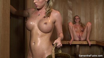 Sauna Lesbians With Samantha Saint