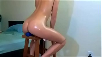 Teen Takes HUGE Dildo in Ass on Webcam - More Videos on XXXCAMG.com