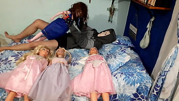 Disney princesses orgy! // Part 2- Fucking with blue dress princess