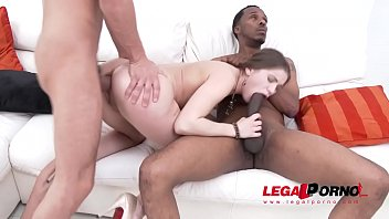 Anal cum e - Evelina darling in anal threesome with monster cocks double penetration