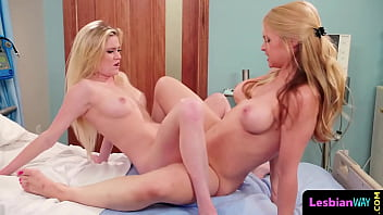 Stunning glamour lesbians licking pussy