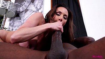 Kendra Lust sucks massive black dick of Mandingo preview image