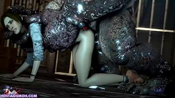Monster Uses Cute Girl As His Fucktoy porno izle