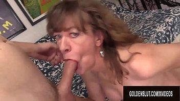 Horny GILF Babe Morgan Cannot Resist the Desire for Hard Cock