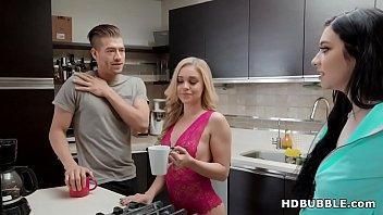 Irresistible blonde sister seducing the guy - Kali Roses and Xander Corvus