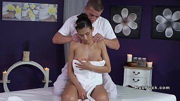 Huge Tits Babe Gets Massage And Big Dick