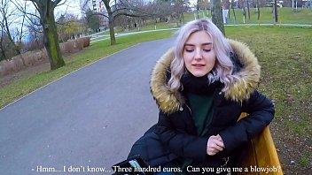 Cute Teen Swall ows Hot Cum For Cash   Extreme  Cash   Extreme Public Blowjob By Eva Elfie