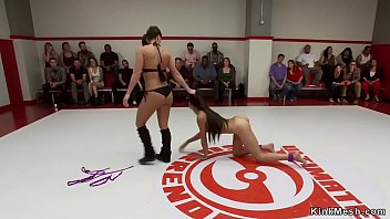 Pain on bikini - Looser wrestler fucked by audience
