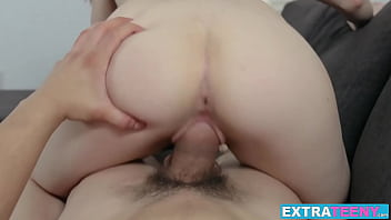 Petite Teen With Small Tits Rides Huge Dick Like A Pro