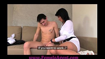 Female condoms - Femaleagent milf casts young nervous stud