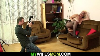 Nude mother-in-law photos He fucks her shaggy old snatch after nude photosession