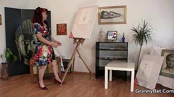 He bangs lovely mature paintress 6 min