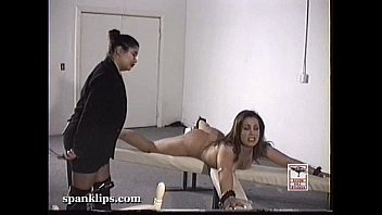 Blonde and brunette punished by the belt