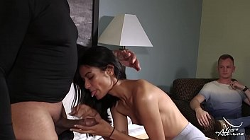 TINY ASIAN TEEN SLUT FIRST TIME HOOKS UP WITH TWO COCKS ON CAMERA