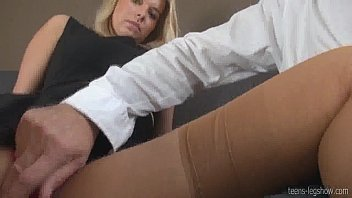 Instagram account @hottybabespics Nikky Dream POV with tan nylons 25 min