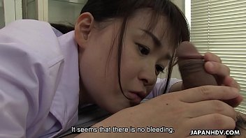 Japanese Nurse, Sayaka Aishiro Sucks Dick While At Work, Uncensored