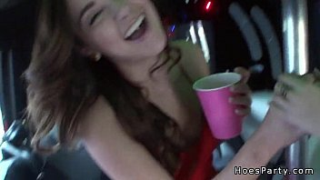 Sexy amateur fucking in party bus POV
