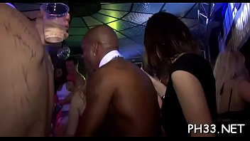 Chicks fucking at club Lots of oral-job from blondes and massing group sex at night club