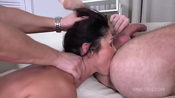 First DP Sexy Milf Eva Black With Rimming And Cum In Mouth VG010
