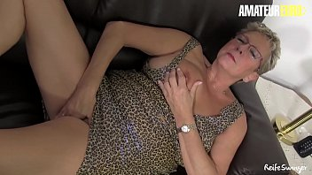 AMATEUR EURO - German Hot Matures Adrienne Kiss And Erna Shares Cock And Play With Dildo In Hot FFM Sex