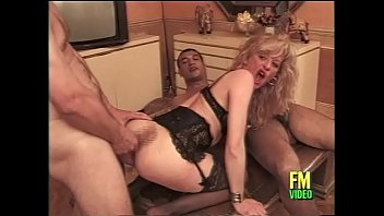Streaming Video French milf in hot black lingerie banged by two guys - XLXX.video