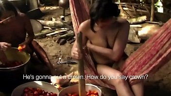 Sex in multi generational tribal huts - Enf tv reporter has to get naked for amazon tribe report