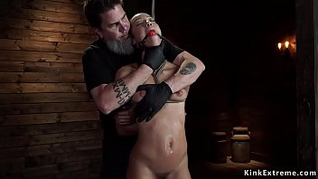 Tight Latina slave tormented on hogtie
