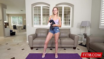 Fit18 - Nikki Sweet - 52Kg - Casting And Creampie A Utah Girl With Glasses