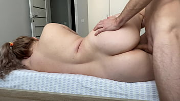 18yo White Girl with a Fat Ass and Huge Tits 10 min