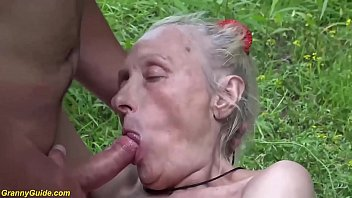 ugly 86 years old mom b. public banged
