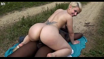 Thick Short Hair Blonde PAWG Rides BBC Outdoors - HELP ME FIND HER Name (Name Found: Celia French)
