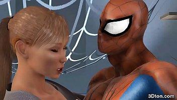 Spider Man Fucks Busty Blonde
