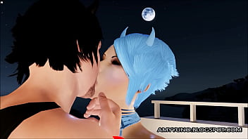 Romantic 3D Emo Couple Love-Making In Virtual Adult Game! 10 min