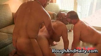 Great gay threesome scene with a lot gays