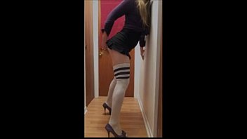 Crossdress dildo panties Sissy play at home