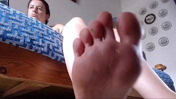 Your mom's feet make you feel small small so small that you would like to be stepped on