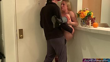 Stepmom welcomes home and pleases stepson - Erin Electra