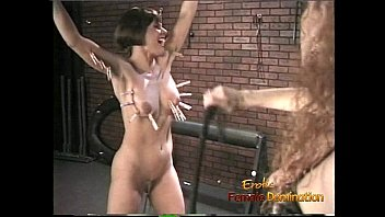 Female domination samples - Foxy bint gets suspended from the ceiling and whipped with fervor