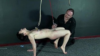 Japanese BDSM and Tit Torment of dungeon submissive Mei Mara in metal clamped