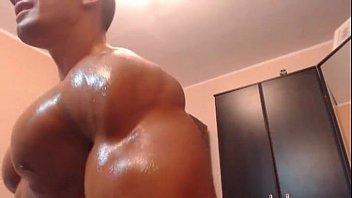 Free gay musclemen male bodybuilders videos pictures Luke pec oiled