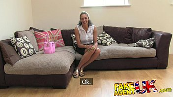 FakeAgentUK Ebony fresh MILF fucks and cums all over casting couch 10 min