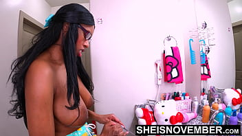 4k My Unsuspecting Ebony DaughterInLaw Msnovember Pressured Into Blowjob, Doggystyle, & Riding AmateurSex RoughFuck By Dominating FatherInLaw, Making Eye Contact On Knees, HomemadeBlowjob With LargeTits  & BigNipples Uut on Sheisnovember