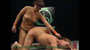 Naked women wrestling video