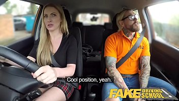 Women that drive their cars naked and show truck drivers Fake driving school fake instructors hot car fuck with busty blonde minx