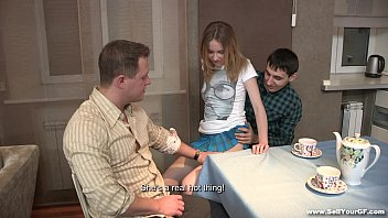 Sell Your GF - Sex dessert Isabel Stern on a kitchen table teen-porn