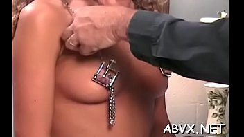 Breathtaking sweetheart is using her tits